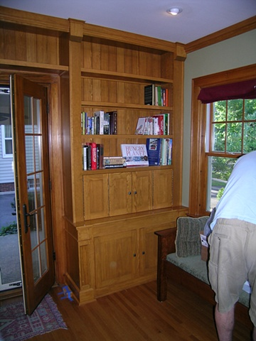 Custom cabinetry for computer, cd, dvd