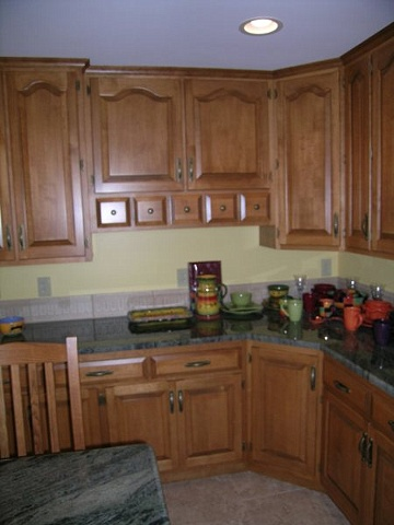 Solid birch cabinetry