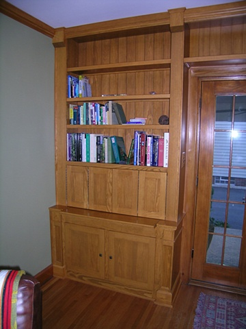 Custom wood storage cabinetry