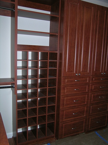 Cherry look melamine cabinetry