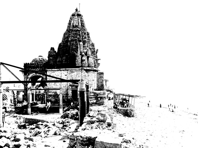 Naiza Khan Manora Temple Photo Polymer Etching