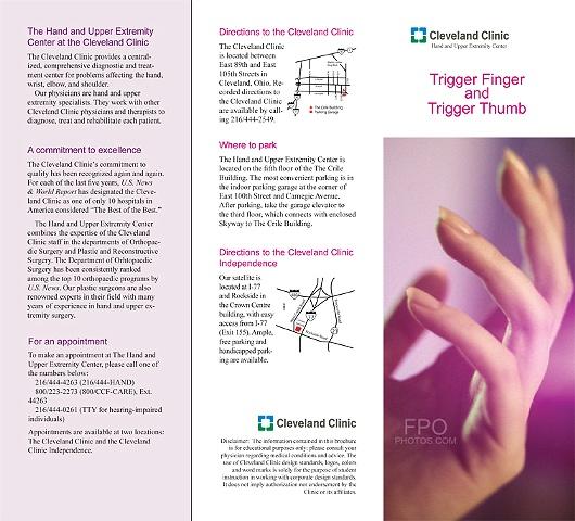 CCF, Trigger Finger Pamphlet 1 of 2