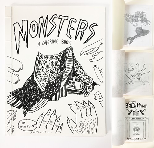 MONSTERS! Coloring Book by BYO Print