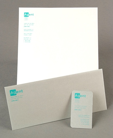 logo, business card, letterhead, and envelope design