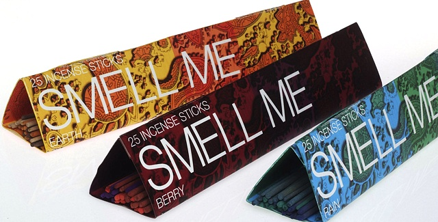 set of three incense packages