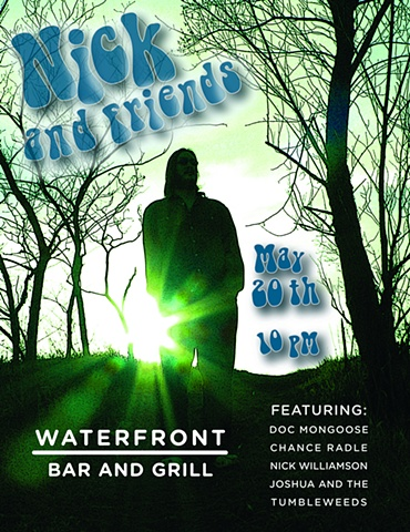 poster design for Nick Foytik and Friends at the Waterfront