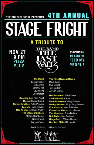 Stage Fright: A Tribute to the Last Waltz Poster Design