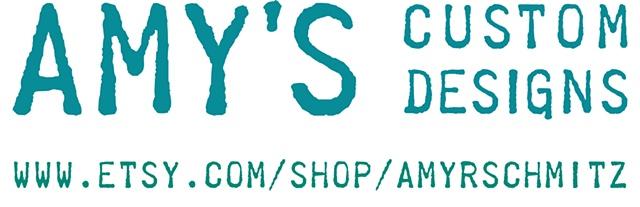 Amy's Custom Designs small jewelry business logo