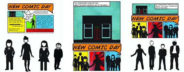 "Branding Campaign: ""New Comic Day"""