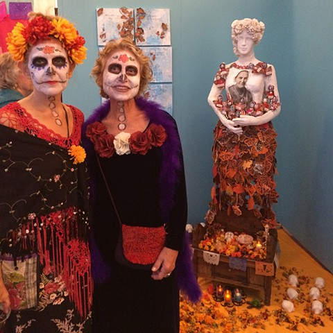 at the opening of the Dia de los Muertos Exihibit