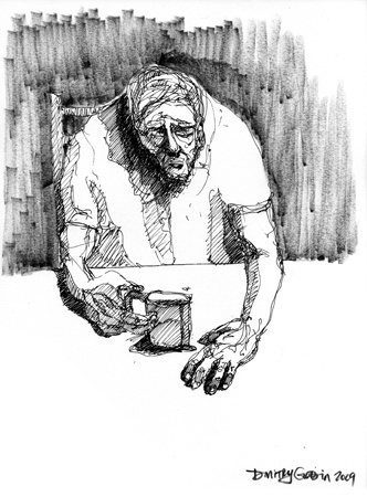 Old Man Drinking Coffee
