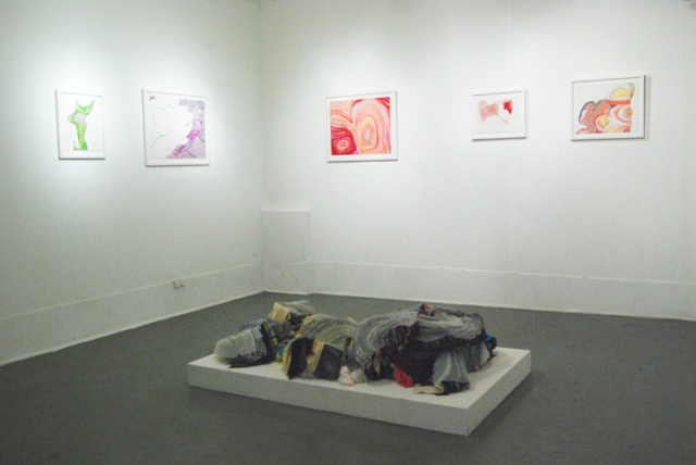 Installation view: Points of Impact