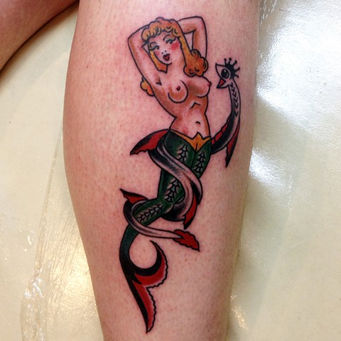 Mermaid Tattoo - Lahaina, Maui