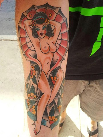 Pin-up tattoo -  Lahaina, Maui
