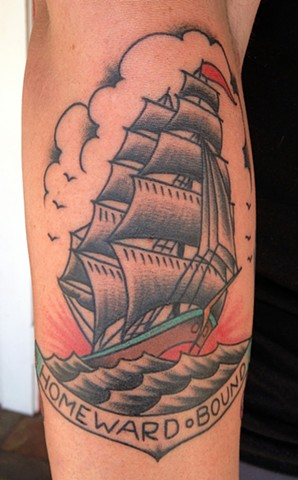 Homeward Bound Ship Tattoo  - Lahaina, Maui