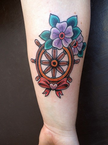 Ship wheel Tattoo - Lahaina, Maui