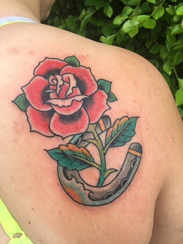 Rose Horseshoe Tattoo - Lahaina, Maui