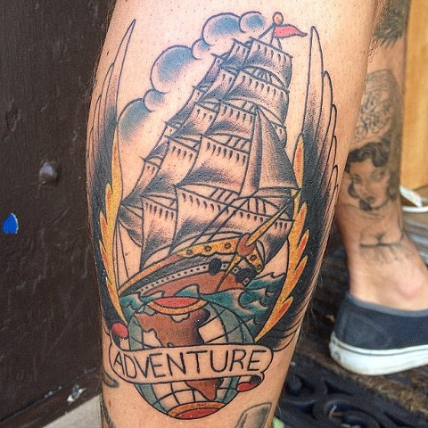 Adventure Ship tattoo - Lahaina, Maui