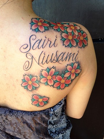 Cherry Blossoms Tattoo - Lahaina, Maui