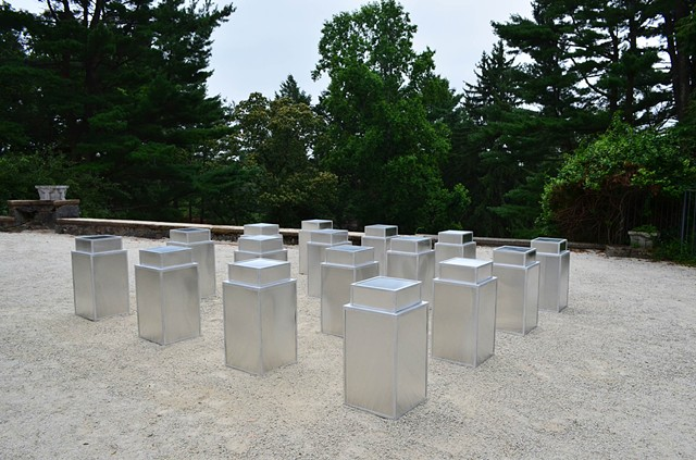 donald judd aaron stephan DeCordova sculpture trash cans