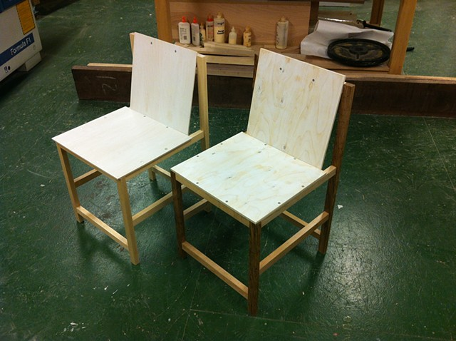 Pair of Chairs (After Marcel Breuer)