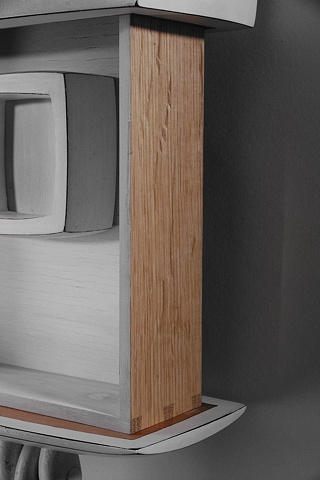 White Wall Cabinet: detail