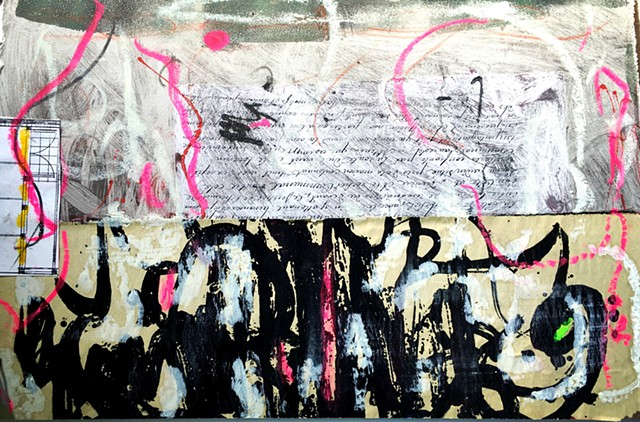 mixed media, collage, contemporary