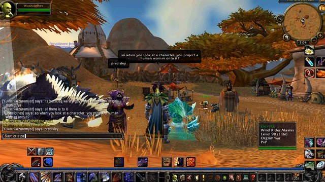 The Council on Gender Sensitivity and Behavioral Awareness in World of Warcraft