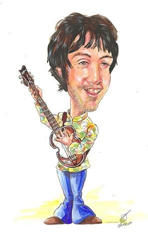 Paul McCartney caricature