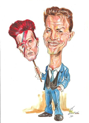 Bowie caricature