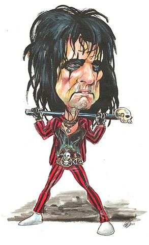 Alice Cooper caricature