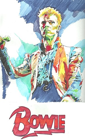 Bowie pen series - Earthling