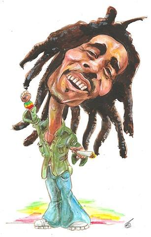 Bob Marley caricature