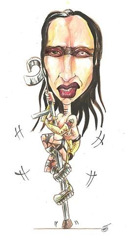 Marilyn Manson caricature