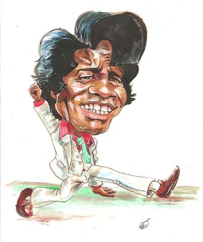 James Brown caricature