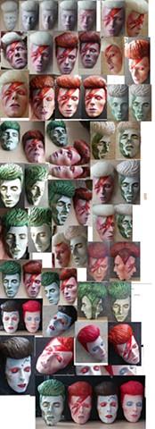 Bowie 'masks' - various designs