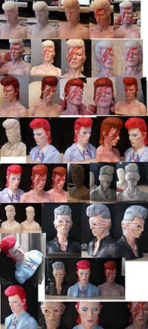 Bowie busts - various designs