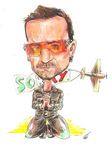 Bono caricature