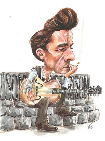 Johnny Cash caricature