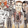 Farscape cast caricature