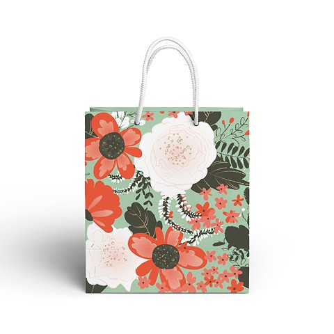 Floral Thank You Gift Bag
