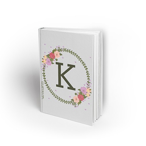 Floral Oval Monogram Journal