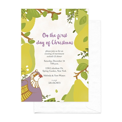 Partridge Christmas Invitation