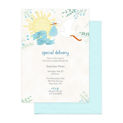 Stork Boy Invitation