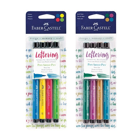 PITT artist pens Lettering Sets, Primary and Jewel Tones