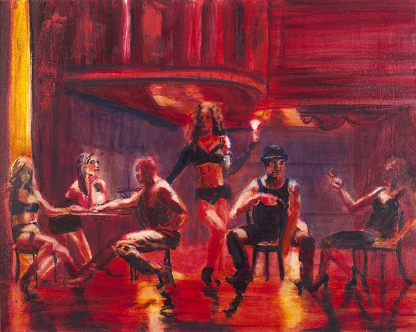 Burlesque Dancers at rest