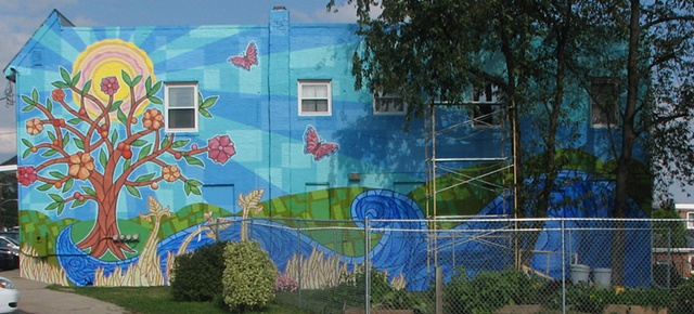 Bernardine Center mural in Chester, PA