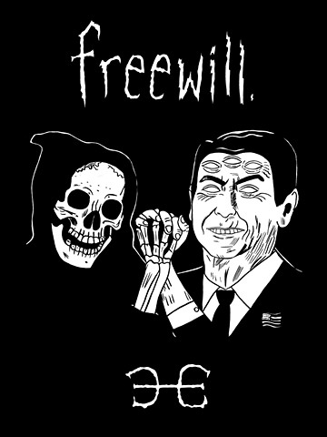 Freewill band T-Shirt design