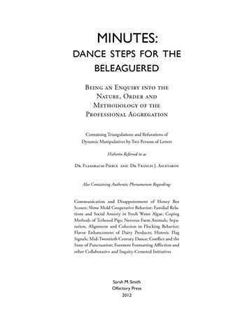Title page to Dance Steps for the Beleaguered