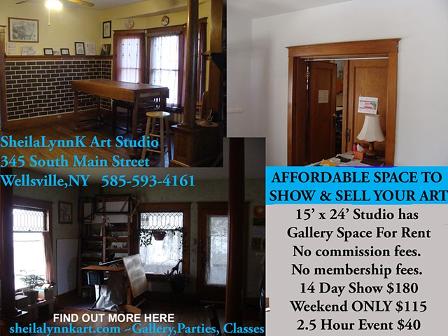 Affordable Gallery Space, Wellsville NY, Affordable Art Space, Art Space
